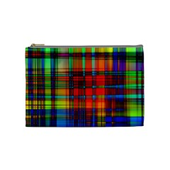Abstract Color Background Form Cosmetic Bag (Medium)