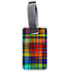 Abstract Color Background Form Luggage Tags (Two Sides)