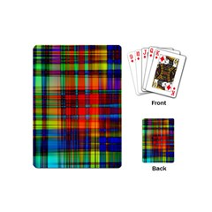 Abstract Color Background Form Playing Cards (Mini)