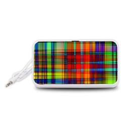 Abstract Color Background Form Portable Speaker (White)