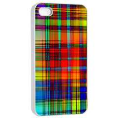 Abstract Color Background Form Apple iPhone 4/4s Seamless Case (White)