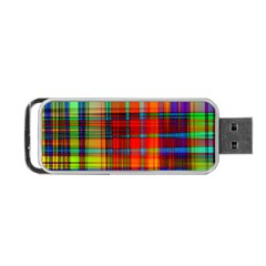 Abstract Color Background Form Portable USB Flash (One Side)