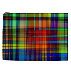 Abstract Color Background Form Cosmetic Bag (XXL)