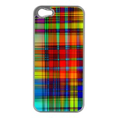 Abstract Color Background Form Apple iPhone 5 Case (Silver)