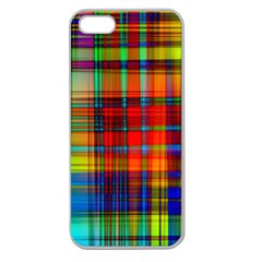 Abstract Color Background Form Apple Seamless Iphone 5 Case (clear)