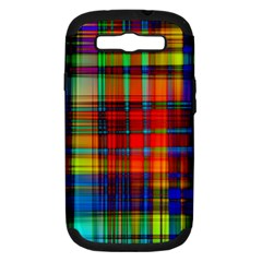 Abstract Color Background Form Samsung Galaxy S III Hardshell Case (PC+Silicone)