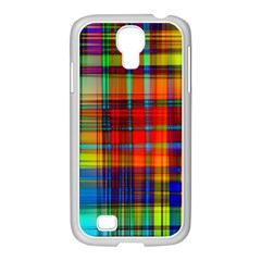 Abstract Color Background Form Samsung GALAXY S4 I9500/ I9505 Case (White)