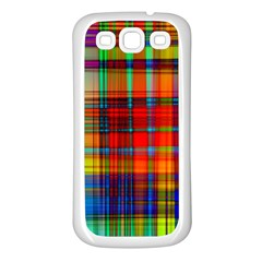 Abstract Color Background Form Samsung Galaxy S3 Back Case (White)