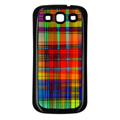 Abstract Color Background Form Samsung Galaxy S3 Back Case (Black)