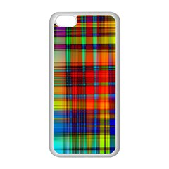 Abstract Color Background Form Apple iPhone 5C Seamless Case (White)
