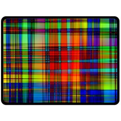 Abstract Color Background Form Double Sided Fleece Blanket (Large)