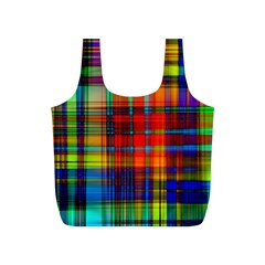 Abstract Color Background Form Full Print Recycle Bags (S)