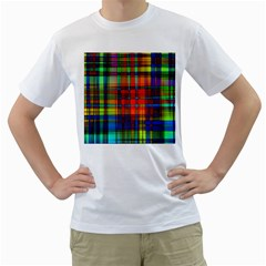 Abstract Color Background Form Men s T Shirt (white)