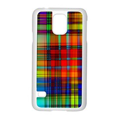 Abstract Color Background Form Samsung Galaxy S5 Case (White)