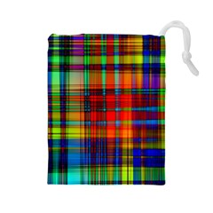 Abstract Color Background Form Drawstring Pouches (large)