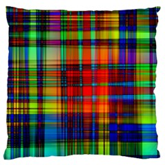 Abstract Color Background Form Large Flano Cushion Case (two Sides)