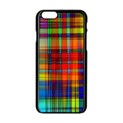 Abstract Color Background Form Apple iPhone 6/6S Black Enamel Case