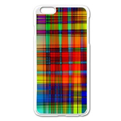 Abstract Color Background Form Apple Iphone 6 Plus/6s Plus Enamel White Case