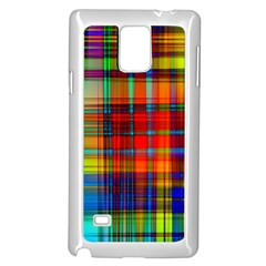 Abstract Color Background Form Samsung Galaxy Note 4 Case (White)