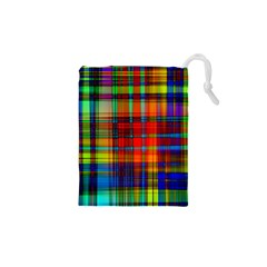 Abstract Color Background Form Drawstring Pouches (XS)