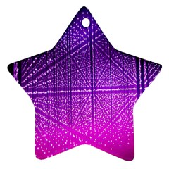 Pattern Light Color Structure Ornament (star)