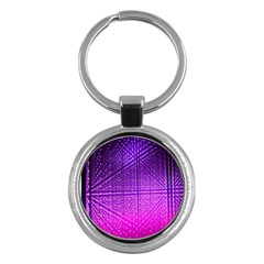 Pattern Light Color Structure Key Chains (Round)