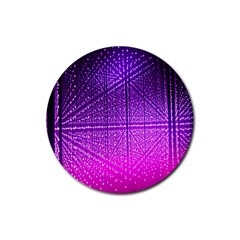 Pattern Light Color Structure Rubber Round Coaster (4 pack)