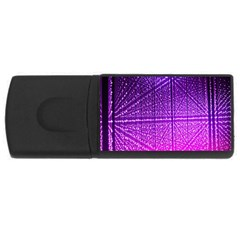 Pattern Light Color Structure USB Flash Drive Rectangular (1 GB)