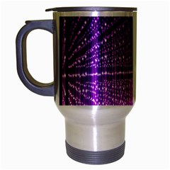 Pattern Light Color Structure Travel Mug (Silver Gray)