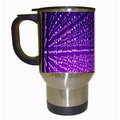 Pattern Light Color Structure Travel Mugs (white)