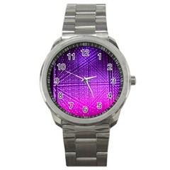 Pattern Light Color Structure Sport Metal Watch
