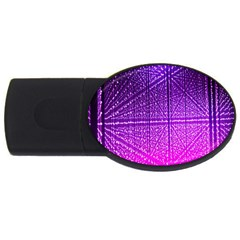 Pattern Light Color Structure USB Flash Drive Oval (4 GB)
