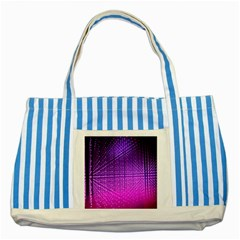 Pattern Light Color Structure Striped Blue Tote Bag