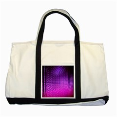 Pattern Light Color Structure Two Tone Tote Bag