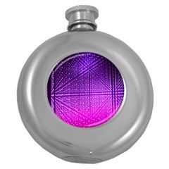 Pattern Light Color Structure Round Hip Flask (5 oz)