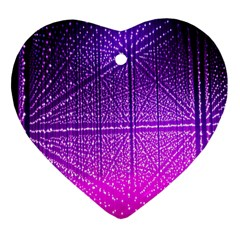 Pattern Light Color Structure Heart Ornament (two Sides)