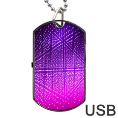 Pattern Light Color Structure Dog Tag USB Flash (One Side)