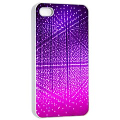 Pattern Light Color Structure Apple Iphone 4/4s Seamless Case (white)