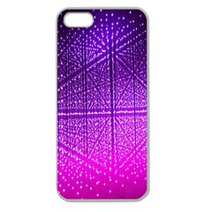 Pattern Light Color Structure Apple Seamless iPhone 5 Case (Clear)