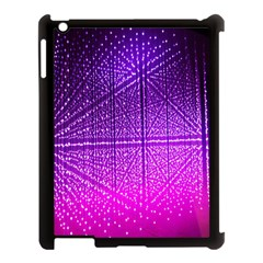 Pattern Light Color Structure Apple iPad 3/4 Case (Black)