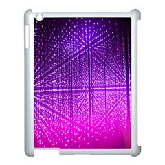 Pattern Light Color Structure Apple iPad 3/4 Case (White)