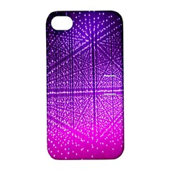 Pattern Light Color Structure Apple iPhone 4/4S Hardshell Case with Stand