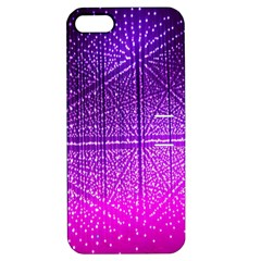 Pattern Light Color Structure Apple Iphone 5 Hardshell Case With Stand