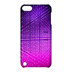 Pattern Light Color Structure Apple iPod Touch 5 Hardshell Case with Stand
