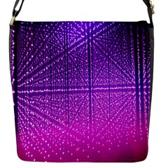Pattern Light Color Structure Flap Messenger Bag (S)