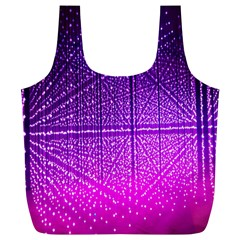 Pattern Light Color Structure Full Print Recycle Bags (L)
