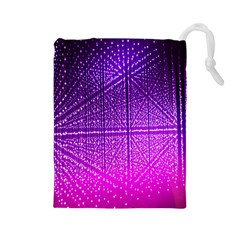 Pattern Light Color Structure Drawstring Pouches (Large)