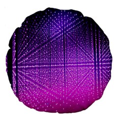 Pattern Light Color Structure Large 18  Premium Flano Round Cushions