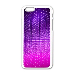 Pattern Light Color Structure Apple iPhone 6/6S White Enamel Case