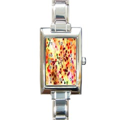 Background Color Pattern Abstract Rectangle Italian Charm Watch